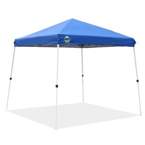 CROWN SHADES Patented 10ft. x 10ft. Slant Leg One Push Up Instant Folding Canopy