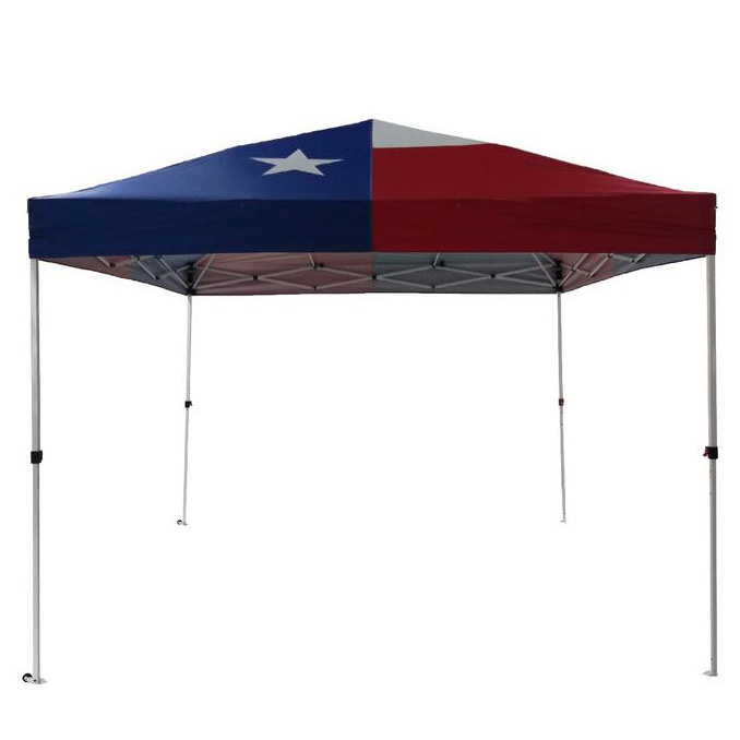 10 X 10 Red White And Blue Texas Flag Instant Canopy