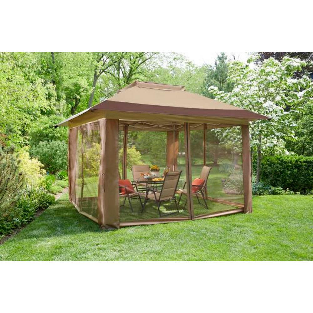 12' x 12' Stockton Instant-Up Gazebo with Netting - Crown ...