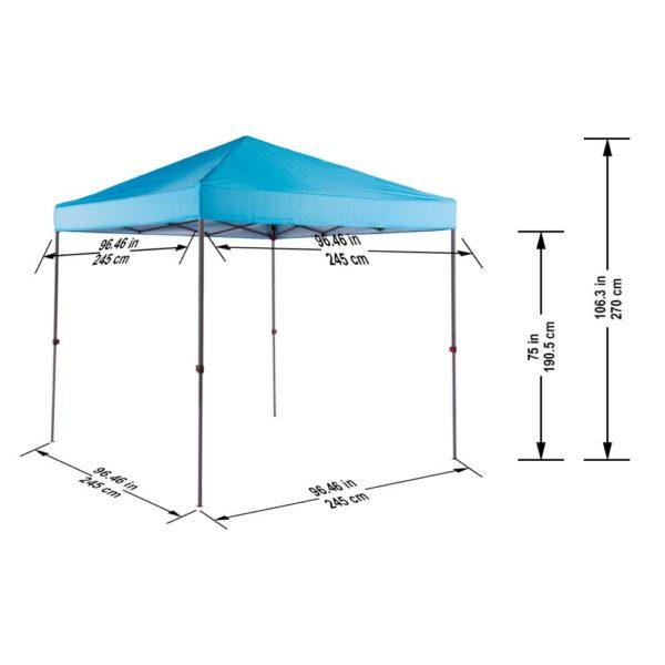 8'x8' Everbilt Straight Leg Canopy