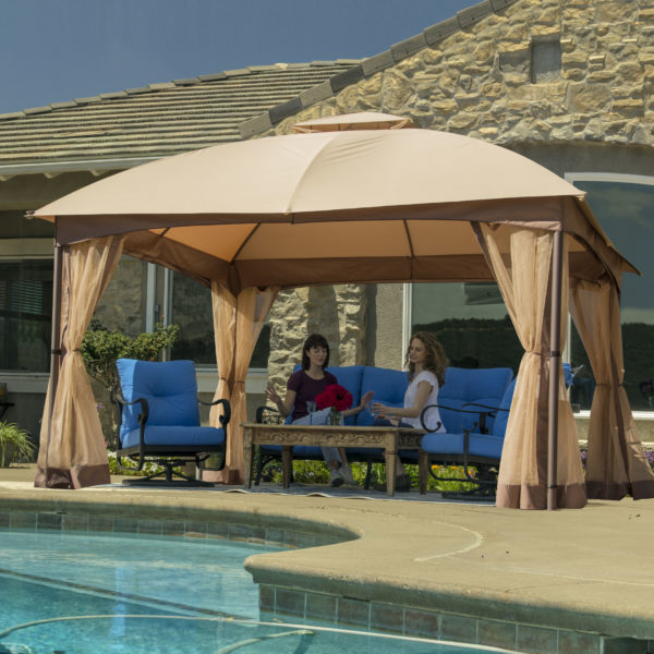 Crown Shades 10'x12' Demo Gazebo with Netting